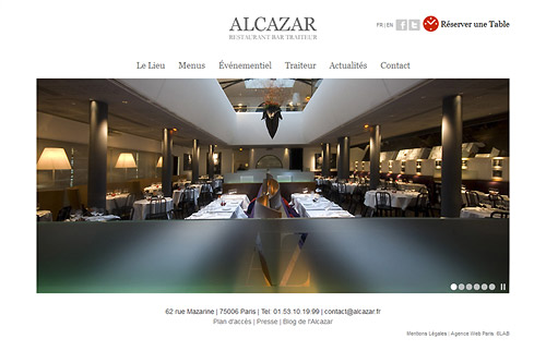 Restaurant ALCAZAR Paris