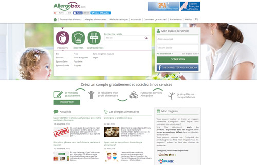 Conception Site Web ALLERGOBOX