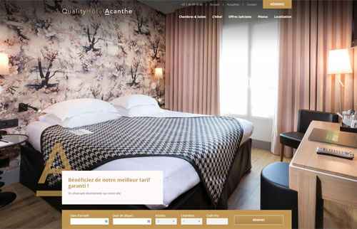 Site Internet HOTEL ACANTHE BOULOGNE ***