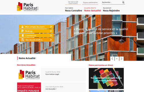 Voir le Site Internet PARIS HABITAT