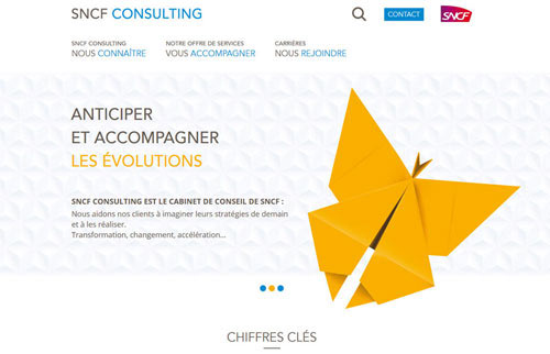 Création Site Web SNCF CONSULTING